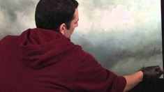 Making Clouds Rain using liquin an oil painting tips and tricks video from Tim Gagnon