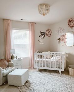 Do It Yourself nursery and baby room decorating! Lots of baby room decor suggestions! Baby Room Design, Nursery Design, Baby Room Decor, Bedroom Decor, Baby Boy Rooms, Baby Cribs, Baby Nursery Ideas For Girl, Room For Baby Girl, Nursery Room Ideas