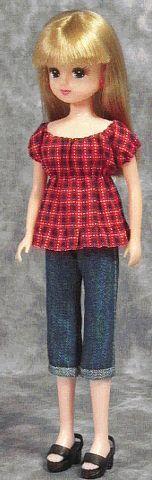 一枚スモック風ブラウス 「パプペポ」着せ替え人形の手作り服の作り方