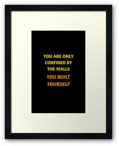https://www.redbubble.com/people/ideasforartists/works/26281868-inspirational-motivational-quote?asc=u #framed #inspirational #wallart