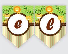 Safari- Bandeirola Digital    #bandeirola #safari #papelaria #personalizados #personalizada #festa #aniversario #rotulos #ninedesigndigital #floresta #selva #animais