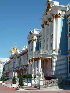 Front Facade of Catherine Palace, St Petersburg, Russia, by Mary Warren via Travelling Vicariously.