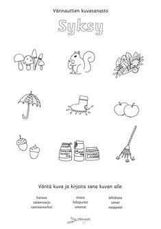 Special Education, Preschool Activities, Kindergarten, Math Equations, Words, Autumn, Seasons, Drawing, Fall Season