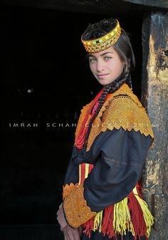 Kalashi girl from Kalash Valley (Kafiristan) of Northern Pakistan. Also known as the pagan tribes.