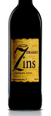 """2009 7 Deadly Zins: This hugely popular wine spends 12 months in both French and American oak. Sexy and endearing, it offers a deep ruby/purple color, full-bodied, corpulent flavors and abundant berry fruit, pepper and spice notes. Drink this seductive, full throttle, classic Zinfandel over the next several years."""""""