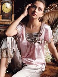 romantic silk pjs 9c0a2a783853c