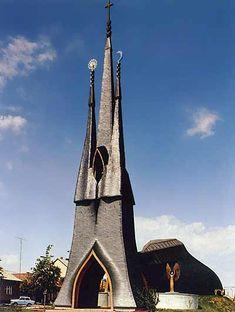 """Paks Catholic Church (Imre Makovecz) """"Paks, Hungary"""""""