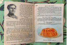 Jell-O recipe book from 1912 with extra ice cream powder booklet. Chock full of gorgeous illustrations, collector's dream in excellent shape Famous Desserts, Jell O, Serving Others, Chock Full, Booklet, Ephemera, Powder, Ice Cream, Shape