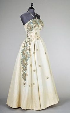 Balmain ball gown ca. 1953-6 From LiveAuctioneers