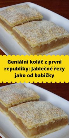 Slovak Recipes, Czech Recipes, Raw Food Recipes, Sweet Recipes, Dessert Recipes, Cooking Recipes, Kolache Cookie Recipe, Good Food, Yummy Food