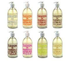 Savon de Marseille -Sans Parfum, Fleur d'Oranger, Olive Lavande, Figue, Rose, Verveine, Pamplemousse-