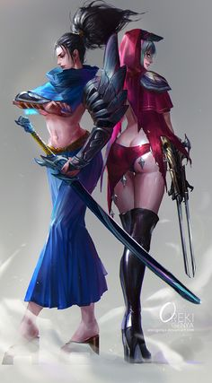 Zed and Yasuo