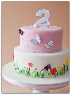 Tortas de cumpleaños para niñas de 1 año   IMAGENES DE TORTAS DECORADAS
