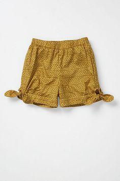 corey lynn calter Bowtied Batik Shorts #anthropologie
