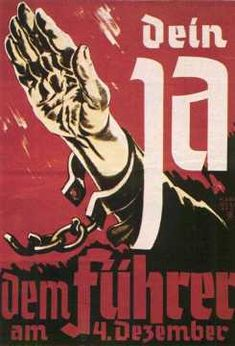 Nazi electoral poster aimed at Sudeten Germans (and the election in Reichsgau Sudetenland on 4 December 1938)
