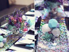 Galaxy themed wedding decor