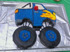 monster truck cake | My monster truck cake. Got the idea off this wonderful site ... | rec ...
