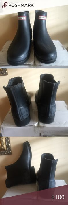 MENS HUNTER boots Like new/brand new. Worn once. Hunter Boots Shoes Rain & Snow Boots