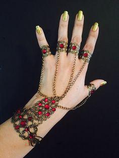 Chain glove bracelet armor bracelet slave bracelet by pickapicka