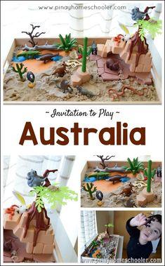 Invitation to play: Australia Australien Montessori Vorschulunterricht von Pinay Homeschooler Australia For Kids, Australia Crafts, Australia Travel, Australia Continent, Coast Australia, South Australia, Sensory Boxes, Sensory Play, Sensory Table