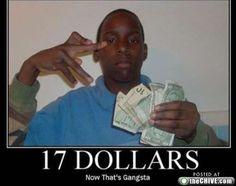 "Negative Mindset: gang signs, glorification of money, image of self as ""gangsta"""