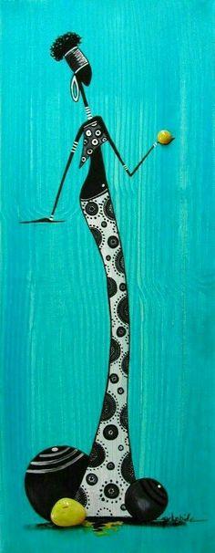 ♥♥♥ Afrique Art, African Art Paintings, Tribal Art, Mandala Art, Black Art, Collage Art, Creative Art, Vector Art, Paper Art