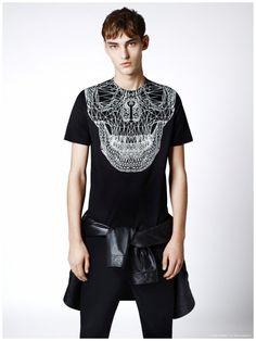Black Barrett by Neil Barrett Showcases Graphic Black & White Fashions for Spring 2015 Collection