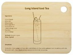 Core Bamboo 6025 Mixology Bar Board, Long Islang Iced Tea by Core Bamboo. $8.28. Available in eight mouth-watering recipes. Sturdy board is perfect for cutting lemons, limes and other ingredients. Mixology cutting board by core bamboo. Each mixology board features a drink recipe including ingredients and directions. Perfect for any wetbar; makes a great housewarming gift. Mixology Boards are must have for any wetbar Each board comes with a recipe for the perfect cocktail-whether ...
