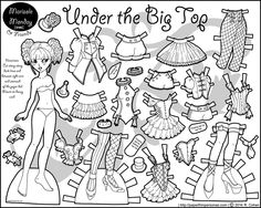 Black And White Marisole Monday Paper Dolls Printable