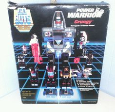 Vintage GO BOTS Power Warrior GRUNGY Renegade Armored Robot 1985 Tonka #Tonka