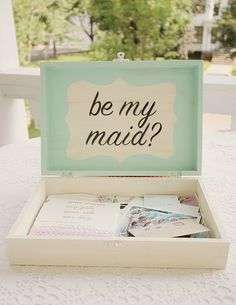 The sweetest way to ask a girl to be your bridesmaid ever!