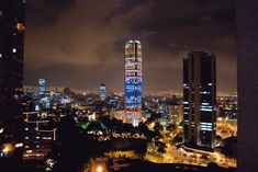 Bogota, Colombia being set on the Andes mountain range is still beautiful when lit up at night.