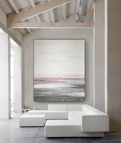 """Freue mich, euch diesen Artikel aus meinem Shop bei #etsy vorzustellen: VICTORIA XL Acryl Gemälde """"Sea Vew Rose"""" 100x120cm Abstrakt, inkl. Alu-Schattenfugenrahmen Victoria, Etsy, Atelier, Matching Colors, Photomontage, Picture Frames, Artworks, Canvas"""