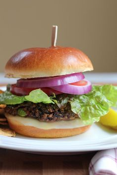 Black Bean and Edamame Burger. The best veggie burger you'll ever have! #burger #vegetarian #veggieburger
