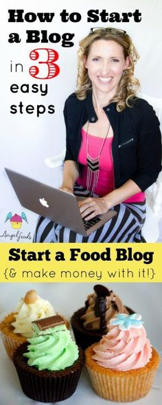 How to start a blog in 3 easy steps! | Whether you are new to the cake and business world or seasoned professional at some stage you will want (need) a blog and WordPress website. | http://angelfoods.net/how-to-start-a-blog-in-3-easy-steps/