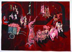 Sue Coe, Red Slaughterhouse, 1988. Excerpted from Cruel, page 71. All images courtesy of OR Books and the artist.