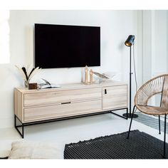 WOOOD Silas TV Unit has a modern look and offers a stylish place for your television. The Silas TV furniture is made of brushed ash wood. Built In Furniture, Cheap Furniture, Furniture Design, Tv Unit Design, Küchen Design, Transforming Furniture, Furniture Making, Modern Tv Units, Cabinet Dimensions