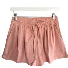Faux Suede Drawstring Shorts