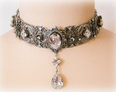 Gargantilla victoriana collar nupcial collar por Poppenkraal