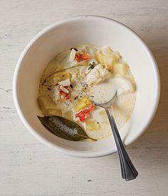 Seafood Chowder Recipe - Saveur.com Good start for my 7 fish Xmas eve dinner