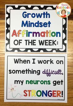 Do you teach your students about growth mindset? Are you aware of the benefits of using positive affirmations? Combine these two powerful approaches and transform student achievement! Easy to use for teachers and super beneficial for students, these 22 af Growth Mindset Classroom, Growth Mindset Activities, Growth Mindset Display, Social Emotional Learning, Social Skills, Social Work, Social Media, Habits Of Mind, 7 Habits