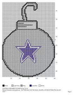Cowboys Christmas ornament