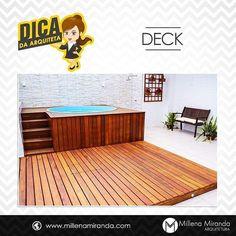 Que tal esse deck na cobertura? Perfeito pra convidar os amigos pra uma piscina e se refrescar nesse calor! by millenamiranda_arquitetura