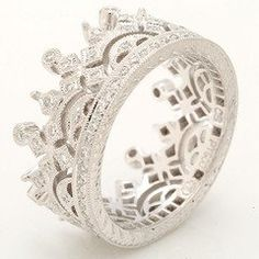 Beverley K Wide Crown Eternity Band-would match my crown necklace from mommyyy!