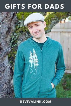 Appreciate the father figures in your life with this nature inspired hoodie. He will love the lightweight super soft sueded cotton, and you'll love to hug him in it.