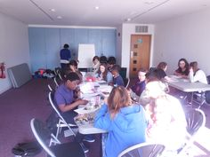 2nd day of the PAYP course - participants work on their Arts Awards portfolios Bronze or Silver