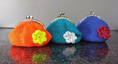 Crochets4U: gratis patroon gehaakte portemonneetjes ~ free pattern crocheted coin purse