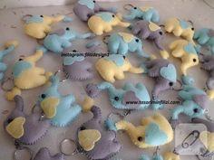 Keçe fil anahtarlıklı bebek şekerleri