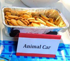 """Animal Car""  Thomas the Train Birthday Party- Train Party Food-  Photo 4 of 15 www.CarrieDahlin.com"