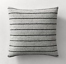 Ben Soleimani Textured Wool Pinstripe Pillow Cover - Square